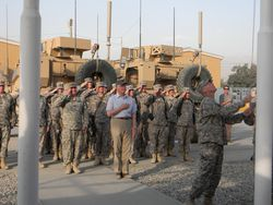 Douglas flag raising Bagram