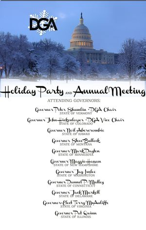DGA Holiday Party invite